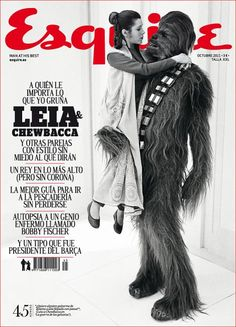 Esquire _ Spain Oct 11_ There's something wonderful about the image and the type and understated colour use. Makes it about style and not about Star Wars