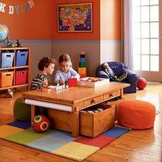 Kids' Play Tables: Kids Honey Adjustable Activity Table in Play Tables Kids Craft Tables, Kids Play Table, Orange Kids Rooms, Childcare Rooms, Boy Room, Child Room, Diy Table, Kids Furniture, Table And Chairs