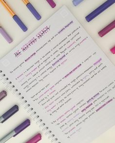 Love when my notes are all purple and pretty like this, can use loads of differe… - SCHOOL MOTIVATION Cute Notes, Pretty Notes, Good Notes, Revision Notes, Study Notes, Biology Revision, Science Revision, Exam Revision, Revision Tips