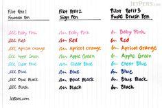 Pilot Petit2 Mini Sign Pen - Medium - 8 Color Bundle - JETPENS PILOT SPN-15M BUNDLE