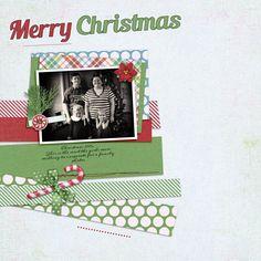 christmas digital scrapbook layout holiday scrap book page