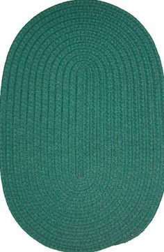 """Veranda 9'6"""" x 13'6"""" Braided Rug in Hunter Green by Constitution Rugs LLC. $707.10. indoor/outdoor braided rug. 100% polypropylene double flat braid construction. Manufactured 100% in the U.S.A. Reversible for added wear. The """"everywhere-rug"""" perfect for patio, poolside, boat and dock, porch or balcony, and garage, as well as indoor den, kitchen, family room etc!"""