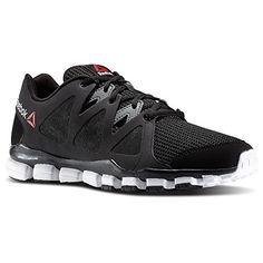 Reebok Mens Realflex Transition 5.0 Running Shoes in Black White Red Size 9.5 - http://shoes.goshopinterest.com/mens/athletic-mens/track-athletic-mens/reebok-mens-realflex-transition-5-0-running-shoes-in-black-white-red-size-9-5/