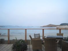 View from the Ruin Beach Cafe, Tresco, Isles of Scilly