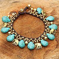 Brass charm bracelet, 'Siam Legacy' from @NOVICA, They help #artisans succeed worldwide.