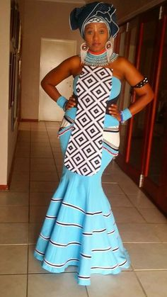 Xhosa bride African Wedding Attire, African Attire, African Wear, African Women, African Print Dresses, African Fashion Dresses, African Dress, African Prints, African Inspired Fashion