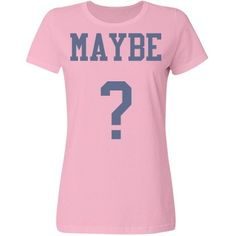 Maybe | PINK AND BLUE MAYBE BASIC TEE