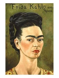 Premium Giclee Print: Portrait with Gold Dress by Frida Kahlo : 32x24in