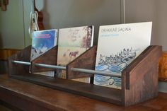triple record storage rack by pratherteam on Etsy