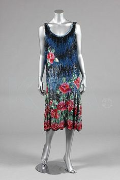 sequinned flapper dress, circa 1928                                                                                                                                                                                 More