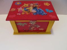Wood Winnie the Pooh Jewelry Box by MesheleCrafts on Etsy