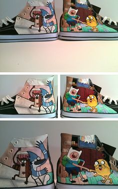 Regular show and Adventure Time High tops