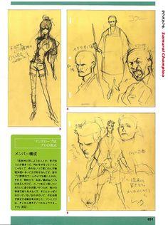 Samurai Champloo character designs.
