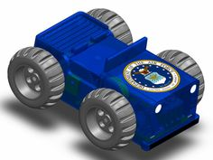 Air Force - wind up self propelled musical car, contains a custom designed mechanical musical movement.