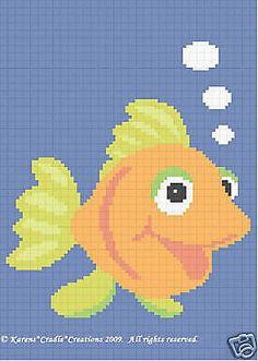 Crochet-Patterns-GOLDFISH-BABY-AFGHAN-PATTERN-EASY