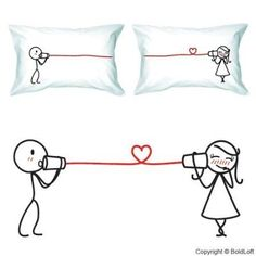 valentine's day pillow cases