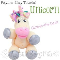 Polymer Clay Unicorn Tutorial by KatersAcres | Also for Fondant, Sugar Paste, Cold Porcelain, & Other Sculpting Mediums