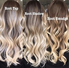 Blonde With Dark Roots, Blonde Roots, Dark Blonde, Balayage Hair Blonde, Brown Blonde Hair, Haircolor, Bayalage, Root Smudge Blonde, Shadow Root Blonde