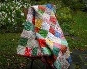 Wedding quilt--Patchwork Quilt--Queen Size--match your colors--93 X 93--made to order wedding gift. $348.00, via Etsy.