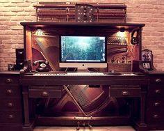 Composing studio.