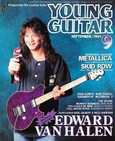 Eddie Van Halen Young Guitar Magazine cover guitar god god legends photo photos pic pics pin pins