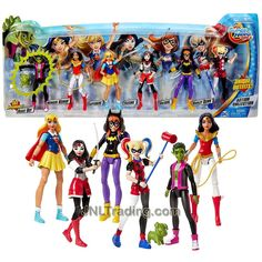 Year 2016 DC Super Hero Girls Action Collection Series 6 Inch Tall Figure Set - Beast Boy with Puppy, Wonder Woman with Lasso, Supergirl, Katana with Sword, Batgirl and Harley Quinn with Mallet Super Hero High, Dc Super Hero Girls, Dc Superhero Girls Dolls, Descendants Wicked World, Dc Comics Collection, Best Friend Drawings, Arte Dc Comics, Beast Boy, Teen Titans