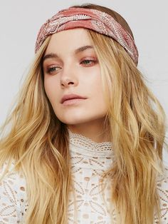 Free People Beaded Gauze Wideband at Free People Clothing Boutique
