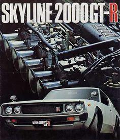 goodoldvalves: Nissan Skyline 2000 GT-R advertisement