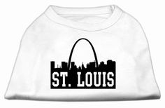 Mirage Pet Products Puppy Safety Dress Apparel Clothing Accessory St Louis Skyline Screen Print Shirt White XL (16)