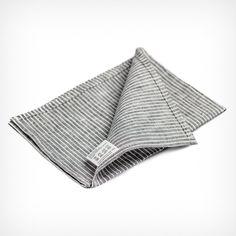 Leinengeschirrtuch Grey White Stripes