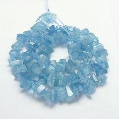 Natural Aquamarine Beads Strands, Grade AA+, Faceted, Nugget