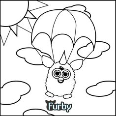 What color is your parachute, Furby?