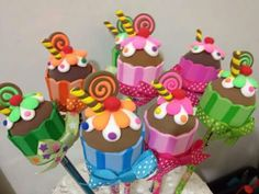 Foamy Cupcake Pencil Toppers Inspiration * No instructions available.