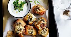 Alice Storey recipe for lamb and roast carrot sausage rolls with video. Meat Appetizers, Appetizers For Party, Appetizer Recipes, Party Recipes, Lamb Recipes, Sausage Recipes, Small Food Processor, Food Processor Recipes, Best Sausage