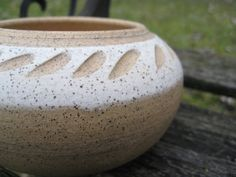Rustic Vintage Stonewear Bowl. Unique Gift Or by TreeTownPaper, $12.00