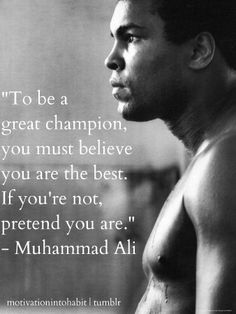 Pretend to be the best