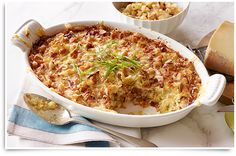 Cheesy Hashbrown Casserole recipe - #McCainFoods | I'd do a Turkey Ham substitute though...LoL.