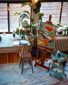 to go into the world : the artwork of mae chevrette: new studio tour and some thoughts  What an awesome space to create!