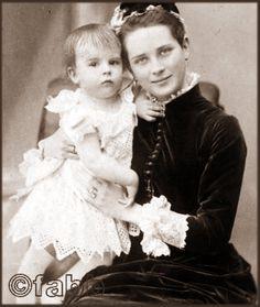 Princess Zenaida with her son Nicholas.