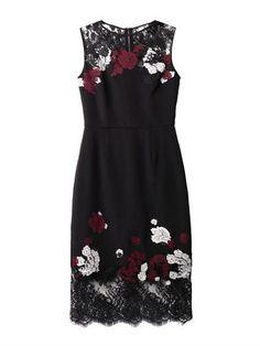 Kent floral-lace satin dress | Erdem | MATCHESFASHION.COM