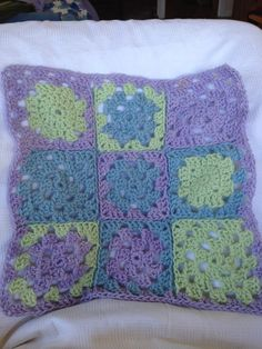Nine patch crotchet Dolls blanket Rosalindentree.com Crotchet, Knit Crochet, Nine Patch, Patches, Quilts, Dolls, Blanket, Pillows, Knitting