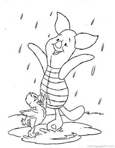 winnie the pooh color pages | Winnie The Pooh Fall Coloring Pages Pictures
