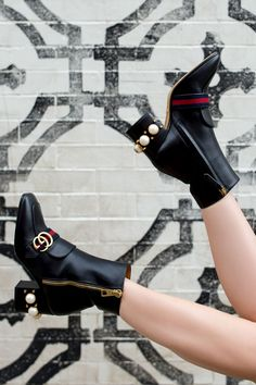 Gucci Pearl Embellished Boots