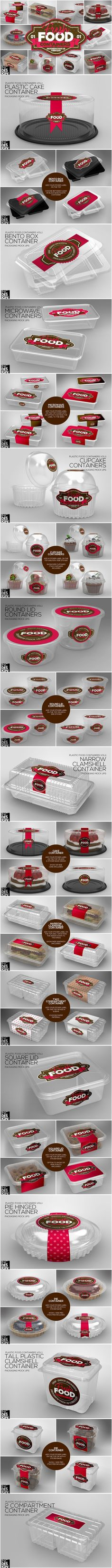 VOL.1 Plastic Food Container MockUps. Product Mockups. $20.00