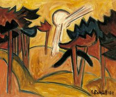 Sun Over the Pine Forest by Karl Schmidt-Rottluff