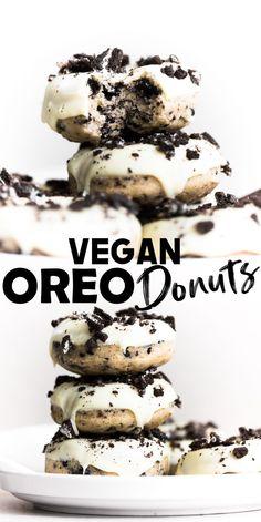 Vegan Baking Recipes, Healthy Vegan Desserts, Vegan Dessert Recipes, Donut Recipes, Vegan Treats, Delicious Vegan Recipes, Vegan Foods, Vegan Snacks, Vegan Dishes
