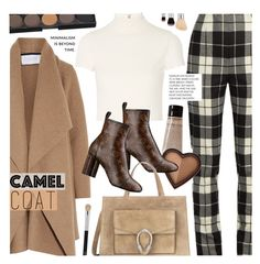 """Camel Coat"" by noviii ❤ liked on Polyvore featuring Grown Alchemist, Harris Wharf London, MaxMara, Alice + Olivia, Gucci and Too Faced Cosmetics"
