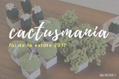 cactus fai da te in cotone a uncinetto.