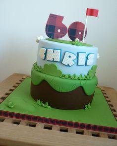 60th birthday golf cake, via Flickr.