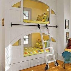 Built-In Bunk Beds #bunkbeds